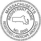 Massachusetts Registered Landscape Architect Seals