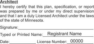 Minnesota Licensed Architect Seals