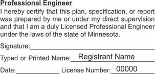 Minnesota Professional Engineer Seals