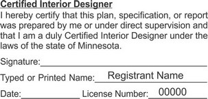Minnesota Certified Interior Designer Seals