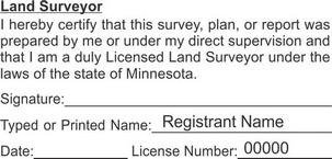 Minnesota Licensed Land Surveyor Seals