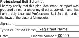 Minnesota Licensed Soil Scientist Seals