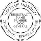 Missouri Certified Real Estate Appraiser Seals