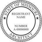Missouri Registered Architect Seals