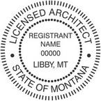 Montana Licensed Architect Seals