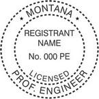 Montana Licensed Professional Engineer Seals
