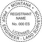 Montana Licensed Professional Engineer and Land Surveyor Seals