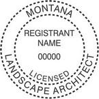 Montana Licensed Landscape Architect Seals