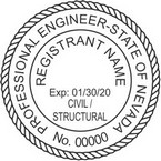 Nevada Civil and Structural Professional Engineer Seals