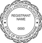 New Hampshire Licensed Landscape Architect Seals