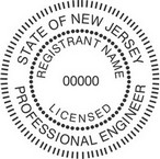 New Jersey Licensed Professional Engineer Seals