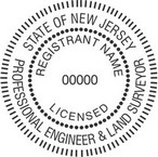 New Jersey Licensed Professional Engineer and Land Surveyor Seals