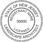 New Jersey Licensed Landscape Architect Seals