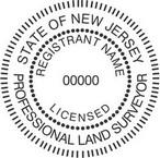 New Jersey Licensed Professional Land Surveyor Seals
