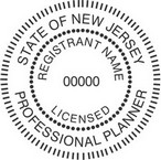 New Jersey Licensed Professional Planner Seals