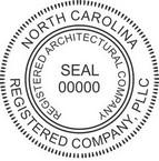 North Carolina Registered Architectural Company Seals