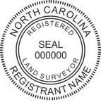 North Carolina Registered Land Surveyor Seals
