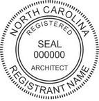 North Carolina Registered Architect Seals
