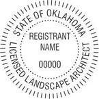 Oklahoma Licensed Landscape Architect Seals