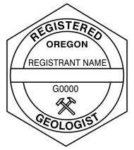 Oregon Registered Professional Geologist Seals