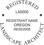 Oregon Registered Landscape Architect Seals