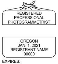 Oregon Registered Photogrammetrist Seals