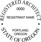 Oregon Registered Architect Seals