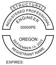 Oregon Registered Professional Structural Engineer Seals