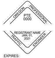 Oregon Professional Traffic Engineer Seals