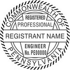 Pennsylvania Registered Professional Engineer Seals