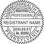 Pennsylvania Registered Professional Geologist Seals