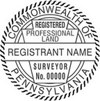 Pennsylvania Registered Professional Land Surveyor Seals