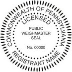 Pennsylvania Licensed Public Weighmaster Seals