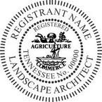 Tennessee Registered Landscape Architect Seals