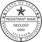 Texas Professional Geoscientist Seals