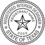 Texas Registered Interior Designer Seals