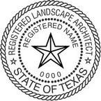 Texas Registered Landscape Architect Seals