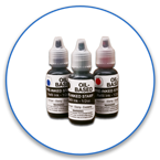 Half Ounce Bottle of Oil-Based Stamp Ink. For use with iStamp or 2000 Plus HD pre-inked stamps. Lasts 30,000 impressions. Free Shipping! No Sales Tax - Ever!