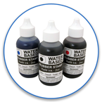 Order Now! 2oz. Stamp Refill Ink for water based, self-inking stamps. Free Shipping! No Sales Tax - Ever!