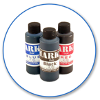 Order Now! Mark II 1250 Ink in 2oz bottle. Dries in 10-15 seconds. Works on various non-absorbent surfaces. Available in Black, Blue, and Red. Free Shipping! No Sales Tax - Ever!