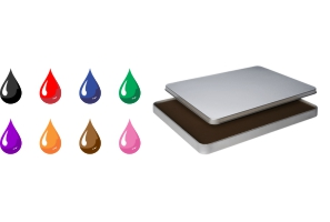 Metal cased felt stamp pad shipped daily online. Free same day shipping. Excellent customer service. No sales tax - ever.