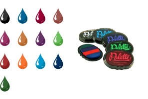 Order Now! Palette Stamp Pads use a hybrid ink that is waterproof, acid free, non-fading, and great for archival or other long lasting impressions. 13 colors available. Free Shipping! No Sales Tax - Ever!