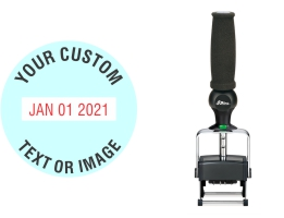 Heavy duty Shiny custom date stamps made daily online. Add your custom text to a heavy duty changeable date stamp with 11+ year bands. All date stamps manufactured same day. 100% guaranteed. Excellent customer service.