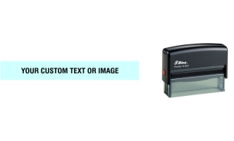 Shiny self-inking stamps made daily online. Select from 8 bright colors for the built-in removable ink pad that will last for several thousand impressions. 100% Guaranteed. No Sales Tax ever.