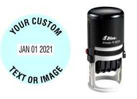 Shiny R-552D plastic date stamp made daily online. Free same day shipping. Excellent customer service. No sales tax - ever.
