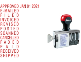 S70 Date & Phrase Stamps Shipped Daily Online. Free same day shipping. Excellent customer service. No sales tax - ever.