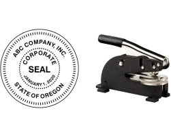 EZ Heavy Duty Desk Corporate Seal Embossers Made Daily Online! Free same day shipping. No sales tax-ever!
