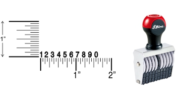 Shiny Traditional Number Stamps shipped daily online. Over-sized band wheels make adjusting numbers easy. Use with a separate ink pad of your choice. 100% Guaranteed. Excellent customer service.