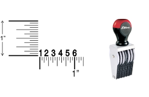 Shiny Traditional Number Stamps shipped daily online. Over-sized band wheels make adjusting numbers easy. Use with a separate ink pad of your choice. 100% Guaranteed. No sales tax.