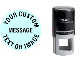 Order Now! Trodat Printy 46050 Round Rubber Stamp. Add lines of text, upload artwork, or both. Free Shipping. No Sales Tax - Ever!